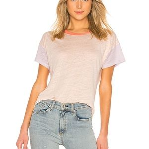 Rag & Bone | Payton Linen Tee in Pink Cloud
